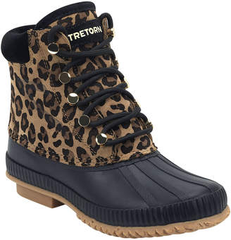Tretorn Roka Leopard Suede Booties