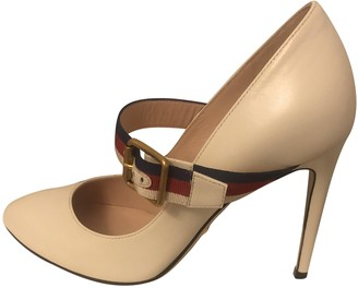 Gucci Sylvie White Leather Heels