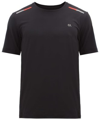 Calvin Klein Logo-print Technical-jersey T-shirt - Black