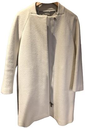 Henry Cotton White Wool Coat for Women