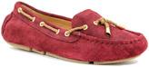 Lamo Maroon Elite Suede Boat Shoe - Women