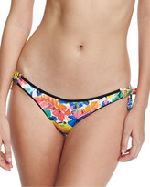 Milly Enna Tie-Side Banana-Leaf Printed Swim Bottom