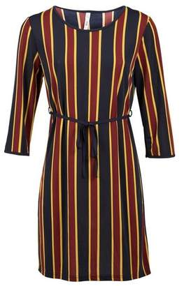 Dorothy Perkins Womens *Izabel London Navy Striped Tie Waist Shift Dress, Navy