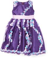 Violet Flower Petal A-Line Dress - Toddler & Girls