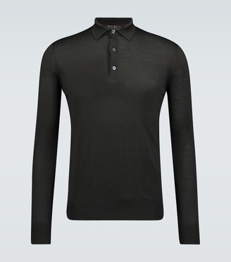 Loro Piana Ml long-sleeved wool polo shirt