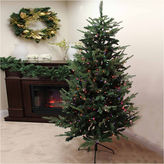 Asstd National Brand 9' Pre-Lit Grantwood Pine Artificial Christmas Tree with Multi-Color Lights