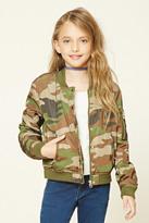 Forever 21 FOREVER 21+ Girls Camo Bomber Jacket (Kids)