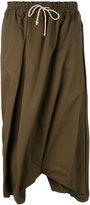 Y's drawstring waist skort - women - Cotton/Polyurethane - 2