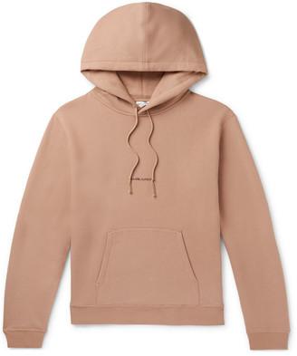 Saint Laurent Logo-Print Fleece-Back Cotton-Jersey Hoodie