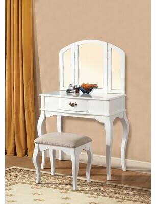 Remley Vanity Set Charlton Home Color: White