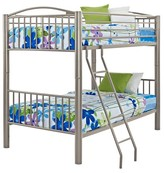 Powell Company Kids Bunk Bed Metal/Silver Grey