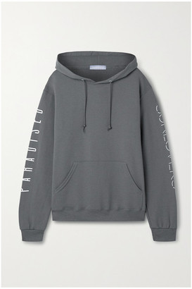 PARADISED Printed Cotton-blend Jersey Hoodie - Anthracite