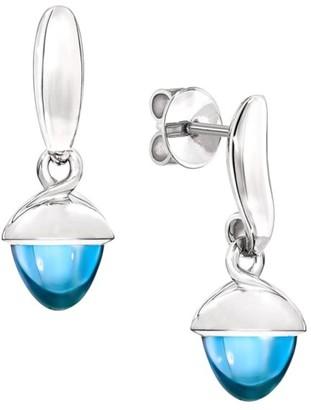 Tamara Comolli Mikado Flamenco 18K White Gold & Swiss Blue Topaz Acorn Earrings
