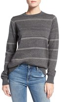 MiH Jeans 'Falls' Metallic Stripe Merino Wool Sweater