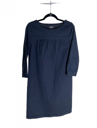 A.P.C. Blue Cotton Dresses