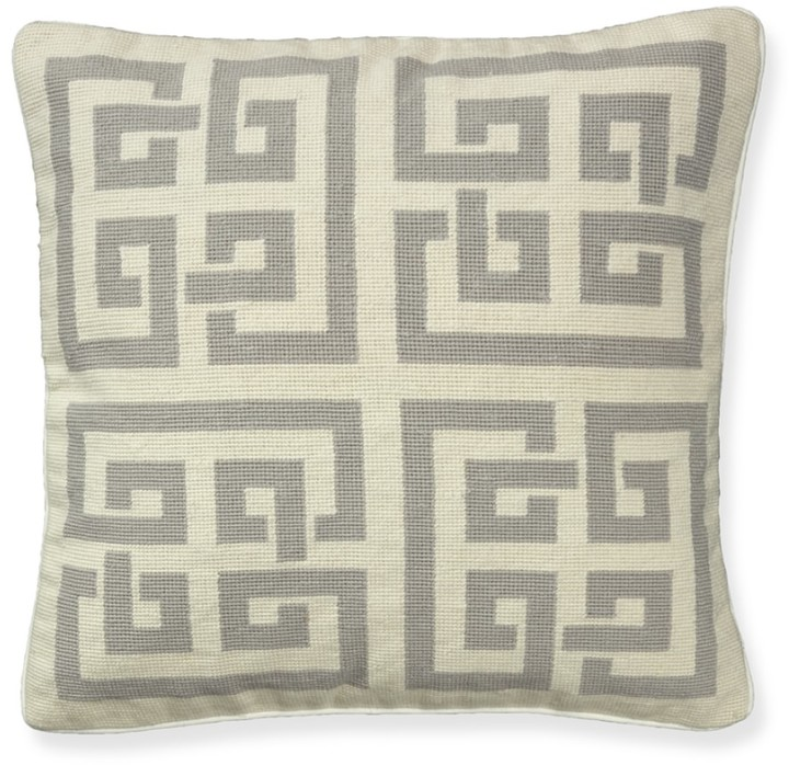 Williams-Sonoma Geo Maze Needlepoint Pillow Cover