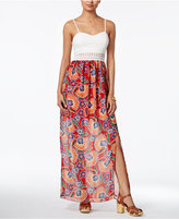 Amy Byer Juniors' Printed Maxi Dress