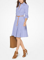 Michael Kors Pinstripe Cotton-Poplin Shirtdress