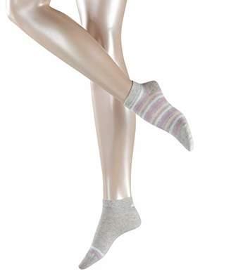 Esprit Women's Multi Stripe Ankle Socks,6 to 8 (pack of 2)