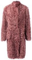 Paul Smith single breasted shearling coat - women - Sheep Skin/Shearling - 42