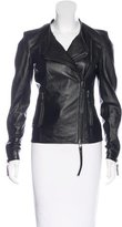 Thomas Wylde Zip-Accented Leather Jacket w/ Tags