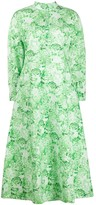 Ganni Floral Print Cotton Poplin Dress