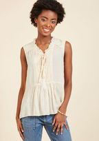 ModCloth Favor-Intensive Sleeveless Top in L