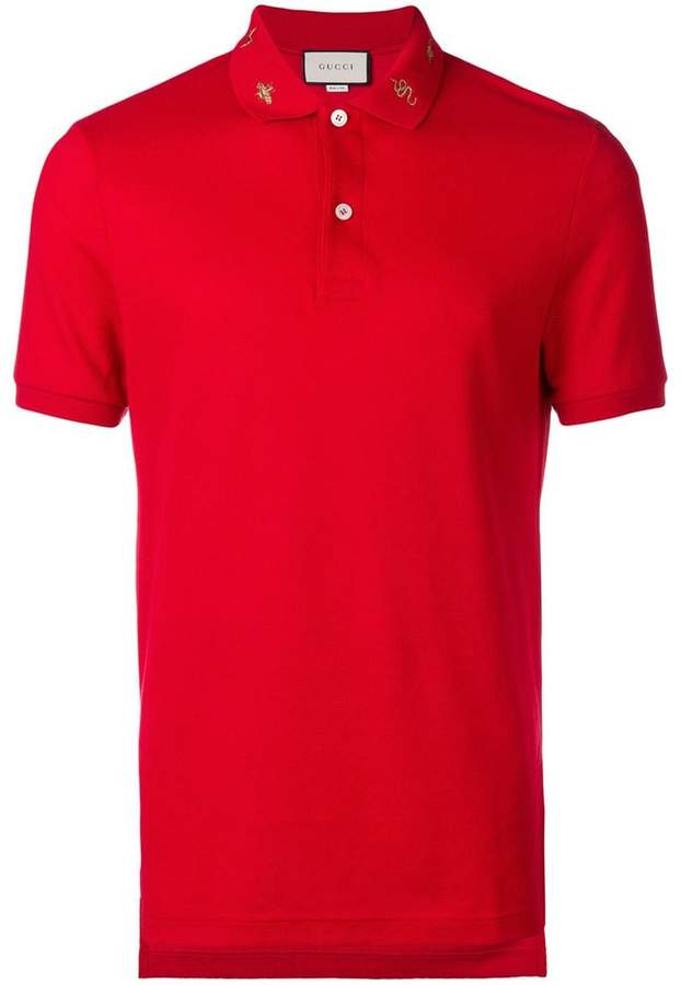 fae2852845d Gucci Red Men s Polos - ShopStyle