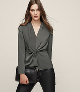 Reiss New Collection Marla Twist-Front Top