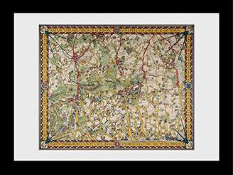 Camilla And Marc GB eye Transport for London Map 4 Framed Print, Wood, Various, 64 x 84 x 3 cm