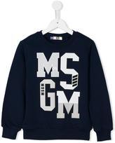 MSGM logo print sweatshirt - kids - Cotton - 8 yrs