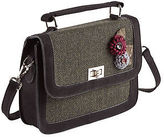 Joe Browns Womens Tweed Shoulder Bag with Twist Clasp