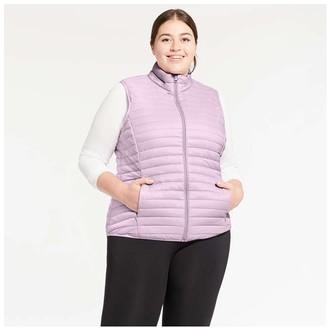 Joe Fresh Women+ Puffer Vest with PrimaLoft, Lavender (Size 1X)