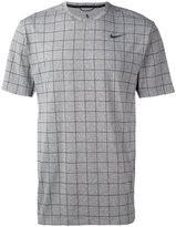 Nike check T-shirt - men - Nylon/Polyester/Spandex/Elastane - M