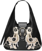 Gucci Dionysus embroidered large leather hobo - women - Leather/metal/Microfibre - One Size