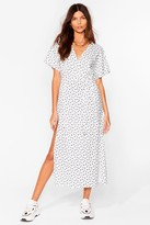 Thumbnail for your product : Nasty Gal Womens Daisy Belted Slit Midi Dress - White - 8
