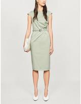 Max Mara Neris belted cotton-blend midi dress
