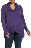 Melissa McCarthy Tiered Hem Top (Plus Size)