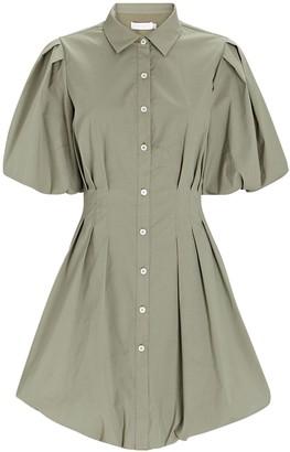 Jonathan Simkhai Cleo Pleated Poplin Shirt Dress
