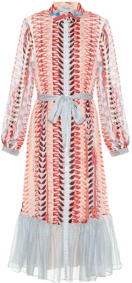 Temperley London Sweet Pea printed silk midi dress