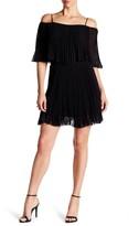 ABS by Allen Schwartz Cold Shoulder Pleated Dress