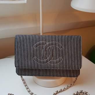 Chanel Wallet on Chain Grey Denim - Jeans Handbags