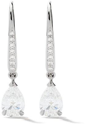 As 29 18kt white gold Mye pave diamond pear drop earrings