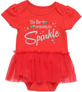 Baby Starters Red 'Sparkle' Skirted Bodysuit - Infant
