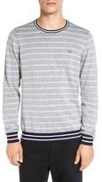 Lacoste Men's Stripe Crewneck Sweatshirt