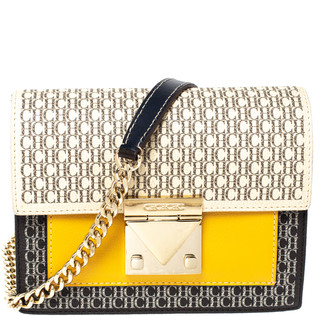 Carolina Herrera Multicolor Signature Coated Canvas and Leather Small Carry on Bandouliere Bag