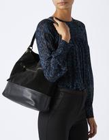 Monsoon Zelda Zip Pocket Suede & Leather Hobo Bag