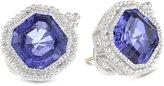 "Judith Ripka Estate"" Estate Ascher Sapphire Stud Earrings"