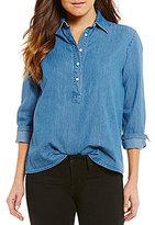 Joe's Jeans Vic Long Sleeve Chambray Blouse