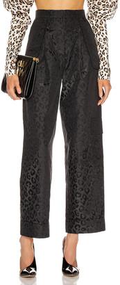 MARIANNA SENCHINA Flared High Waist Pant in BlackBlue | FWRD